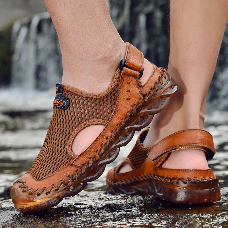 Mens Summer Translucent Sandals