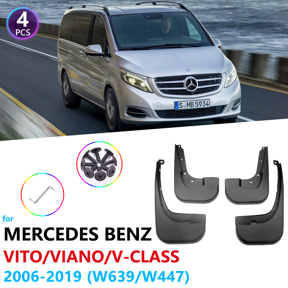 Mudguards for Mercedes Benz Vito Viano V Class 2006~2019 W639 W447 Car Accessories Fender Mudflaps Guard Splash Flaps Mud image