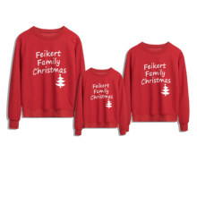 Family Clothing Christmas Family Matching fashion tree Sweatshirt Women daddy Xmas mommy and me Long Sleeve Hoodies T-shirt Tops(China)