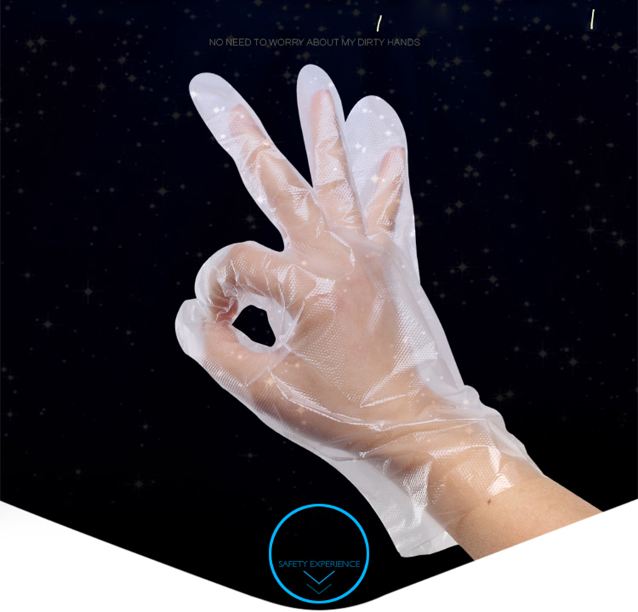 300pcs Disposable Plastic PE Gloves For Hands For Paraffin Skin Treatment Free Shipping
