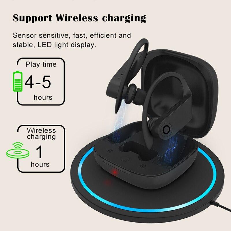 Waterproof sport Bluetooth Earbuds Magnetic earphone B10 Wireless Sports Earphone Support wireless charging For Beats