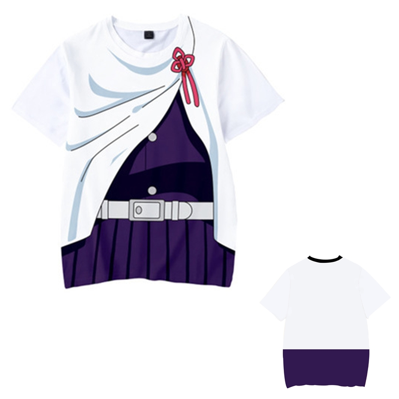 Kids Boys Devils killer T-shirts 3d Print Cosplay Japanese Ghost blade Children Summer Short Sleeve Tshirts Demon Slayer Clothes 21