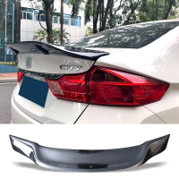 Car Trunk Spoiler Carbon Fiber FRP Auto Rear Trunk Wing R Style Refit Accessories Spoiler For Honda City 2015 2018