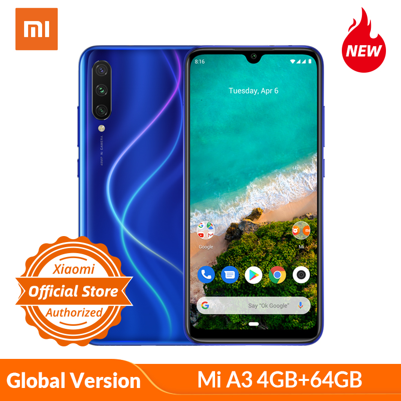 Global Version Xiaomi Mi A3 Smartphone 4GB 64GB 32MP Selfie Android One Snapdragon 665 48MP 4030mAh 6.09