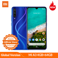 Global Version Xiaomi Mi A3 Smartphone 4GB 64GB 32MP Selfie Android One Snapdragon 665 48MP 4030mAh 6.09 In Screen Fingerprient