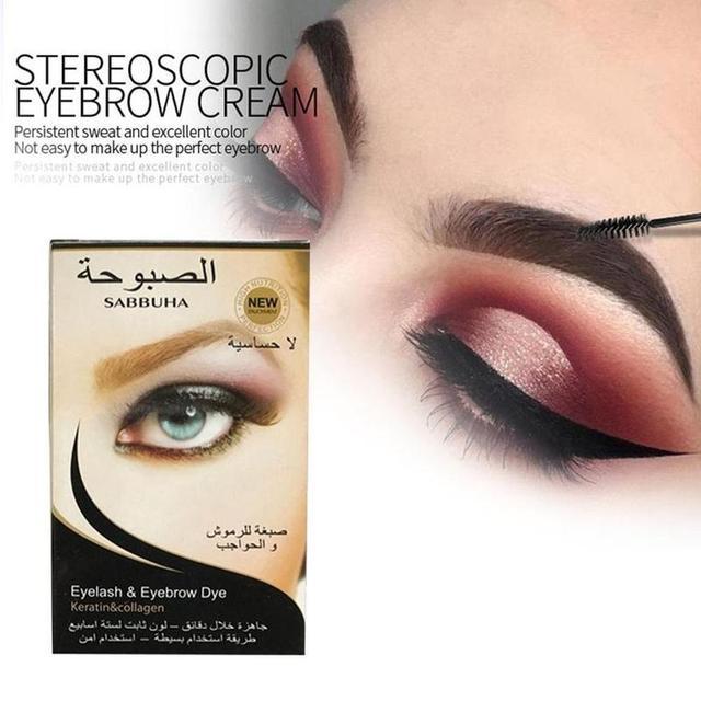 1 Set High Quality Waterproof Professional Eyelash Eyebrow Dye Tint Gel Eye Brow Mascara Cream 2