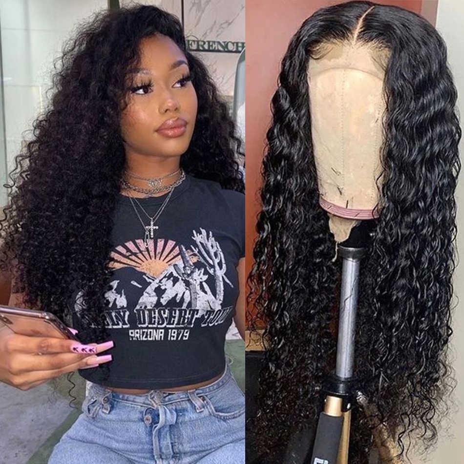 Парики из натуральных волос на шнурках, волнистые 13X4 бразильские волосы на шнурках, парик Remy с плотностью волос для малышей, 150% влажные и волнистые волосы