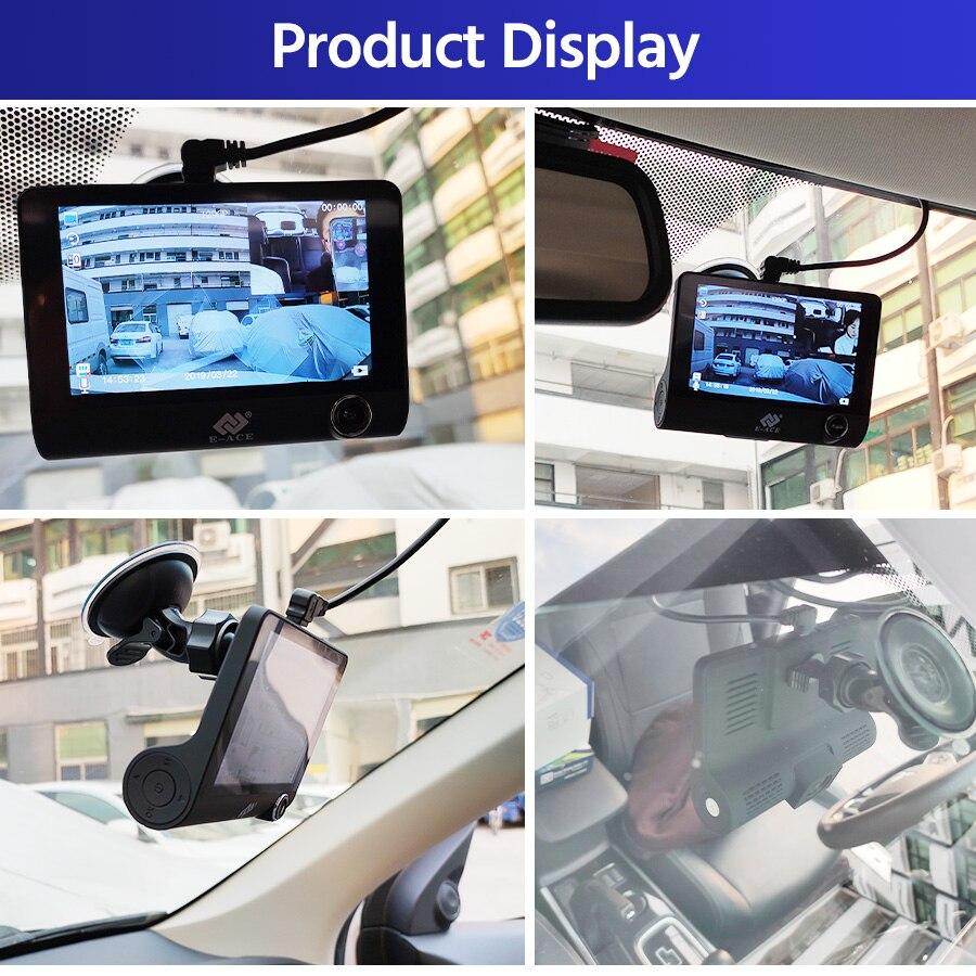 E-ACE B28 Видеорегистраторы для автомобилей 4 дюймовый Dash Камера 3 Камера s объектив с зеркалом заднего вида Камера видео Регистраторы авторегис...