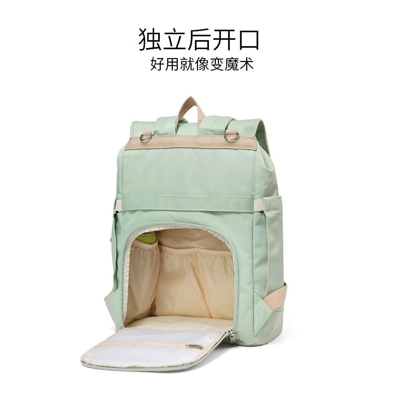 2019 New Style Korean-style Diaper Bag Shoulder Multi-functional Large-Volume Mommy Bag MOTHER'S Bag Lightweight Travel Diaper B