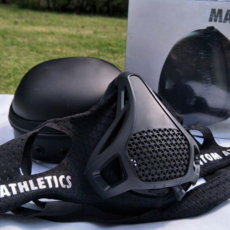 Máscara de bloqueo de oxígeno, máscara anaeróbica para correr, simulación de meseta, máscara de entrenamiento de Fitness