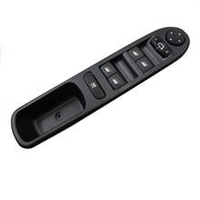 Para peugeot 307 interruptor de controle da janela energia frente esquerda elétrica janela regulador botão interruptor painel interior acessórios do carro