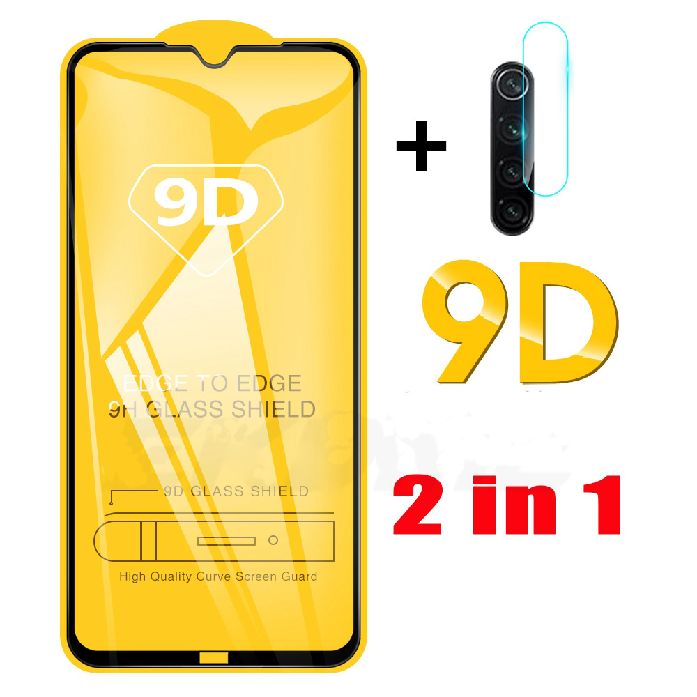 2-in-19D Full Cover Screen Protector For Xiaomi Redmi Note 8 8t Pro Camera Lens Protective Film On Redmi Note 8 Tempered Glass