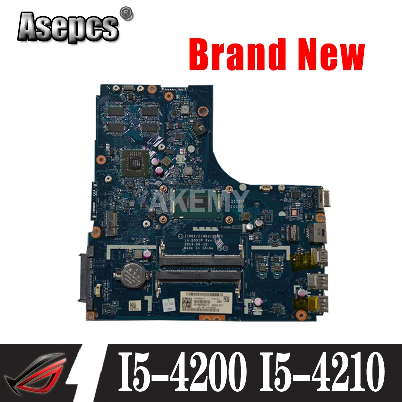 New Mianboard For <font><b>Lenovo</b></font> Ideapad <font><b>B50</b></font>-70 Laptop Motherboard ZIWB2/ZIWB3/ZIWE1 LA-B091P I5-4200 i5-4210 2GB GPU image