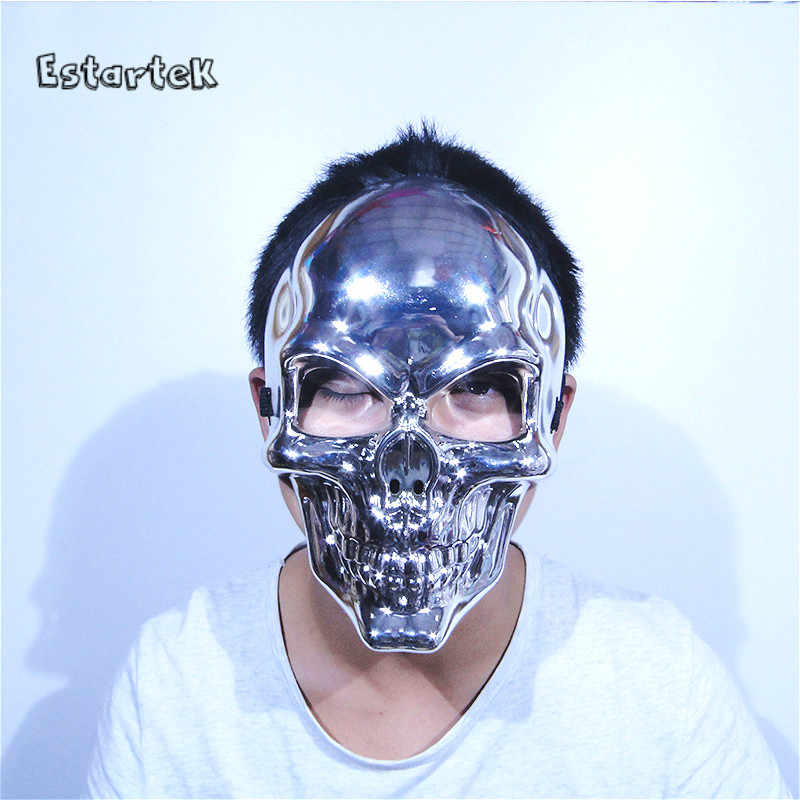 Estartek PVC ハロウィンコスプレゴースト赤銀ゴールドペイントのためのマスク休日