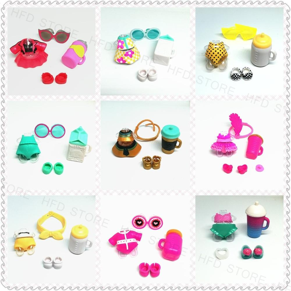 1set Original LOLs Doll Accessories Clothes Dresses Glasses Headwear Shoes Bottle Necklace DIY Toy Girls Kids Gift