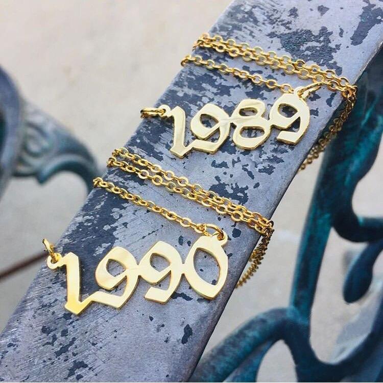 Boże narodzenie naszyjniki damskie numer data rok naszyjnik 1985 1986 1987 1988 1989 1990 1991 1992 1993 1994 1995 1996 1997 1998 1999