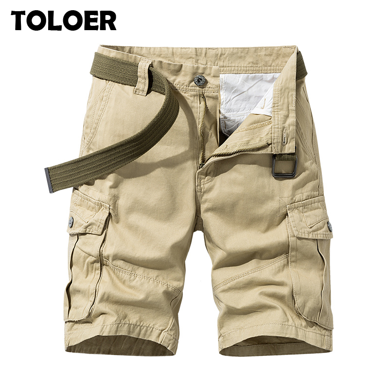 Cargo Shorts Men 2020 Summer Army Military Tactical Homme Shorts Casual Solid Multi-Pocket Male Baggy Bermuda Shorts Plus Size