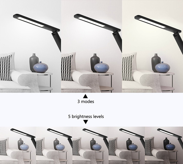 Artpad Modern Leather 8W Dimable Office Desktop Light Led Foldable Table Lamp with Alarm Clock for - Artpad Modern Leather 8W Dimable Office Desktop Light Led Foldable Table Lamp with Alarm Clock for Business Work Children Gift | RadiantHomeLighting