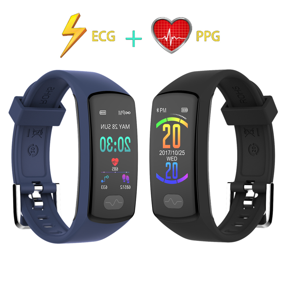 ECG PPG HRV Health Smart Band Bluetooth Connect Android ios Phone Sports Pedometer Activity Tracker Fitness Bracelet Men Women