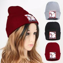 Sea Eagle Knitted Beanies Hat Women Men Warm Winter Hats For Solid Hip-hop Casual Cuffed Bonnet Caps