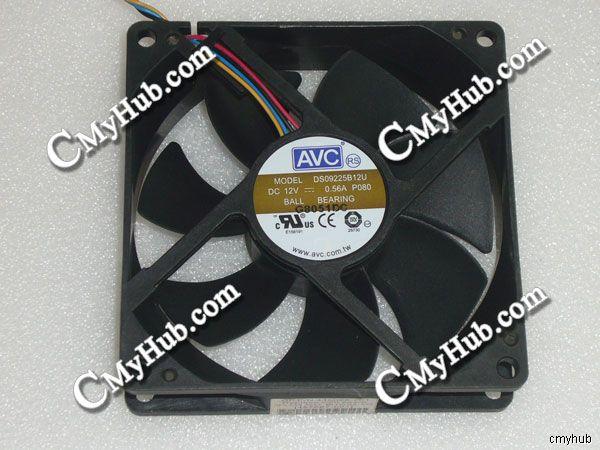 For AVC DS09225B12U P080 445068-001 DC12V 0.56A 9025 9CM 90mm 90x90x25mm 5Pin Cooling Fan