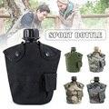 1L Outdoor UNS Stil Strategical Wasser Flasche mit Abdeckung Kantine Kit Outdoor Training Aluminium Tasse YA88