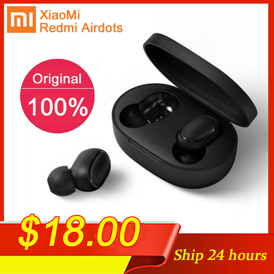 Xiaomi Bluetooth Earphone Earbuds Stereo-Bass Handsfree Airdots-Tws Original with Mic