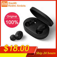Original Xiaomi Redmi Airdots TWS Bluetooth Kopfhörer Stereo bass BT 5,0 Eeadphones Mit Mic Freihändiger Ohrhörer AI Control