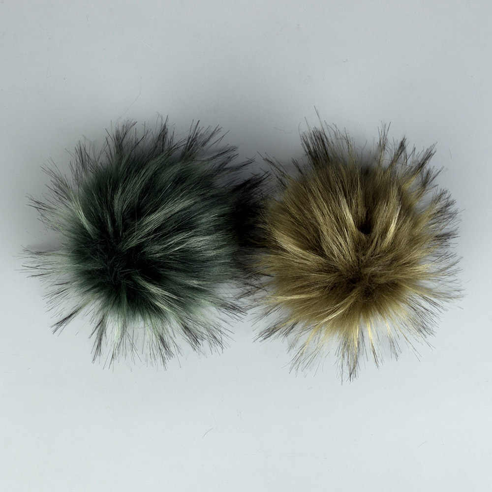 DIY Kunstmatige Wol Hairball Faux Bont Pom Pom Bal Met Gesp Hoeden Mutsen Caps Schoenen Tassen