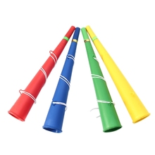 Красочные пластиковые футбольные игры веер Cheer вечерние Рога Vuvuzela малыш Трубач-игрушка Музыкальные инструменты
