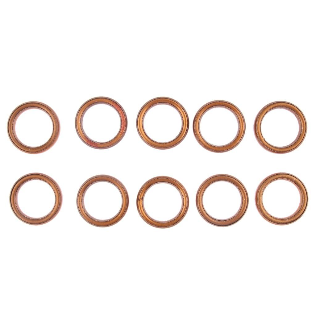 10x anillos de junta de tubo de escape de motocicleta de Metal para GY6 49cc/50cc/110cc/150cc Scooter ATV