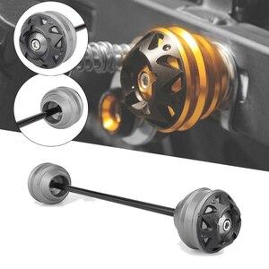 Kit de deslizadores de Eje delantero y trasero para horquilla de protección de la rueda de montaña para BMW K1300S K1300R K1300GT K1300 K 1300 S R GT