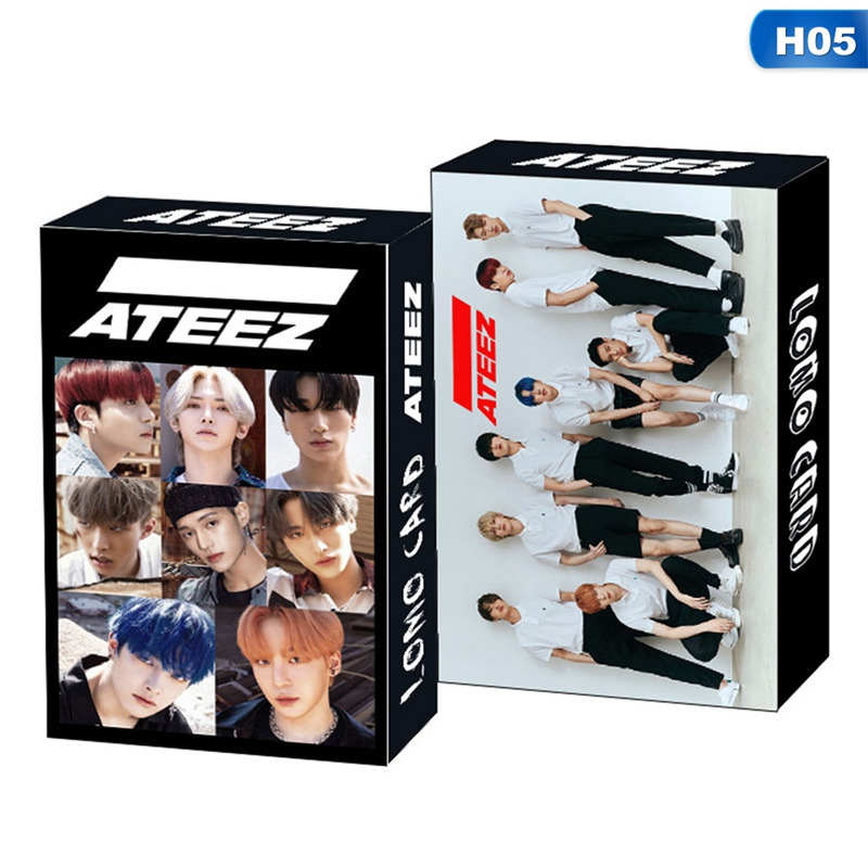 30 шт./компл. kpop ateez izone seventeen itzt lomo card seventeen nct monsta x album poster hd photocard k-pop cards