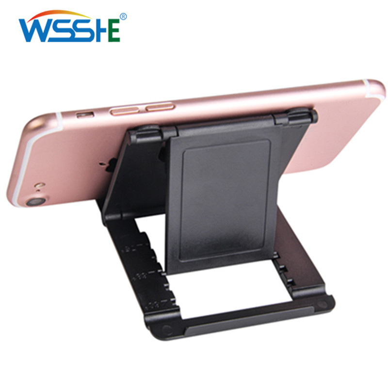 7 Colors Mobile Phone Desk Stand Universal Phone Holder Tripod Foldable Plastic Table Holder Stand For Mobile Phone Tablet PC