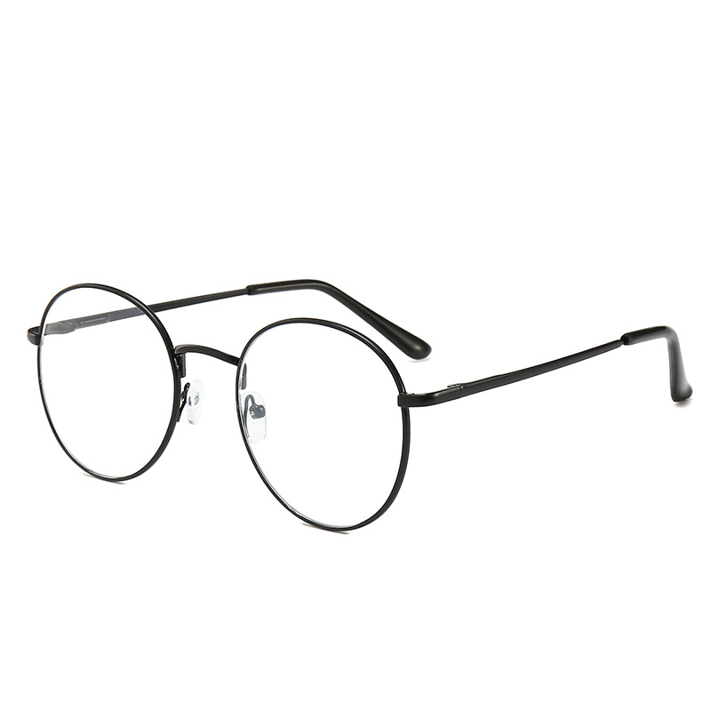 Women Reading Glasses Round Metal Frame Myopia Eyewear Transparent Lens Men Optical Eyeglasses Diopter -1 To -6