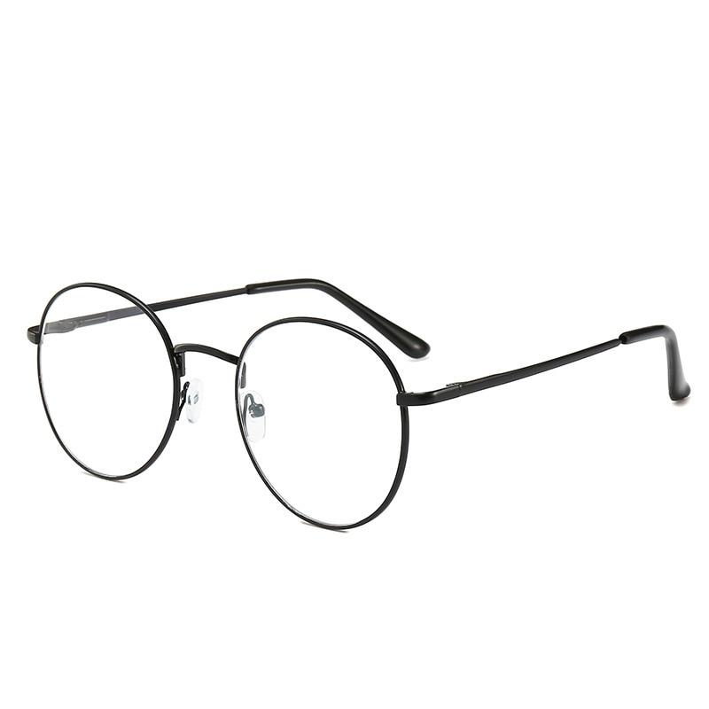 Women Reading Glasses Round Metal Frame Myopia Eyewear Transparent Lens Men Optical Eyeglasses Diopter -1 To -6