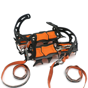 Image 5 - 12 Teeth Crampons Manganese Steel Climbing Gear Snow Ice Anti Skid Climbing Shoe Grippers Mountaineering Crampon Traction Device