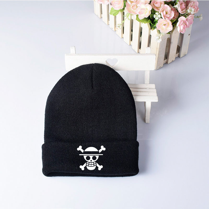 One Piece Anime Peripheral Hat Knit Cap Woolen Hat Autumn And Winter Outdoor Riding Warm Cold Hat Men And Women