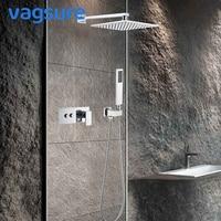 2 ways 3 ways Brass Shower Faucet Mixer Valve Chrome 304 Stainless Steel Shower Head Waterfall Rain Set System Tap