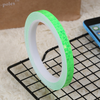 1cmx8m Bike Reflective Stickers Cycling Fluorescent Reflective Tape MTB Bicycle Adhesive Tape Safety Decor Sticker Accessories 9
