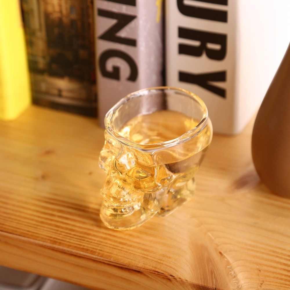ヘッドショットガラスカップワインマグビールガラスマグクリスタルウイスキーウォッカメーカー茶コーヒーカップ 80 ミリリットルギフト水筒