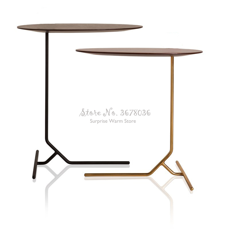 Modern Nordic Small Round Table Hotel Restaurant Coffee Table  Balcony Leisure Table Office Wooden Desktop Stable Metal Foot