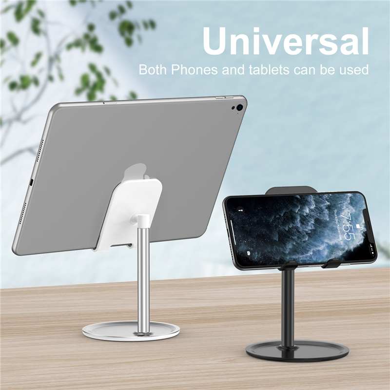 Lovebay Universal Tablet Phone Holder Desk Stand Adjustable Support For IPhone Samsung Desktop Alloy Tablet Mobile Phone Stand