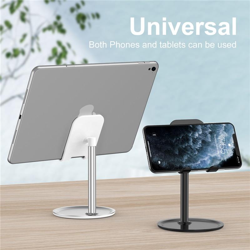 Lovebay Universal Tablet Phone Holder Desk Stand Adjustable Support For IPhone Samsung Desktop Alloy Tablet Mobile Phone Stand