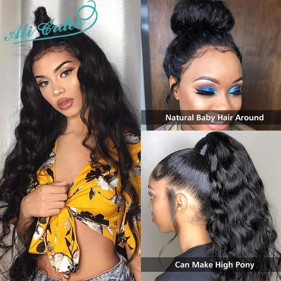 Ali Grace Body Wave Lace Front Pruik Natuurlijke Haarlijn Body Wave Menselijk Haar Pruiken Braziliaanse Pre Geplukt Lace Front menselijk Haar Pruiken