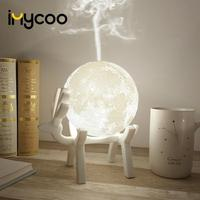 Navio da gota 880 ML Lua Ultrasonic Umidificador de Ar Aroma Difusor de Óleo Essencial USB Mist Maker Humidificador com LED Night Lamp