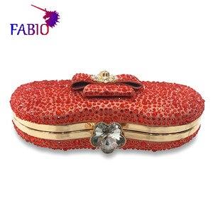 Image 4 - 나이지리아 이브닝 드레스 꽃 desgin 다이아몬드와 함께 아름 다운 여자 가방 좋은 품질 숙 녀 가방