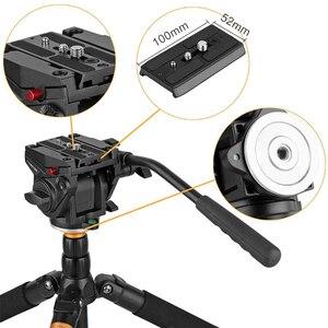 Image 3 - Kingjoy Officiële VT 3510 Panoramische Statiefkop Hydraulische Vloeistof Video Hoofd Voor Statief Monopod Camera Houder Stand Mobiele Slr Dslr