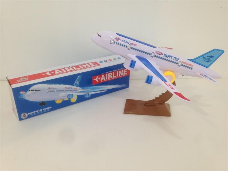 Children Multidirectional Electric Music Light Everbright Passenger Plane Night Market Stall Hot Selling Model Plane Toy
