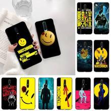 HPCHCJHM Watchmen poster Black Soft Shell Phone Case Capa For Oppo A5 A9 2020 Reno2 z Renoace 3pro Realme5Pro сумка printio хранители watchmen